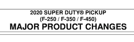 2020 Ford SuperDuty Order Guide